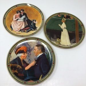 NORMAN ROCKWELL 3 Knowles Plates 1985 2nd 4th 8th